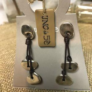 Uno de 50 handcraft earrings NWT silver plated